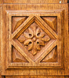 Details of the old wooden door. Decoration Stock Photography