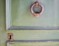Details of an old wooden door. Stock Images