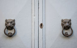 Details of an old wooden door. Royalty Free Stock Image