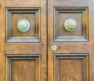 Details of an old wooden door. Royalty Free Stock Photography