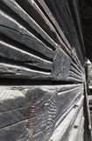 Details of and old wooden house facade in Csernat village, Trans Stock Photos