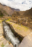 Details of Ollantaytambo, former Inca city, Peru Royalty Free Stock Images