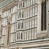 Details of the ornate marble facade at Florence Cathedral Royalty Free Stock Image