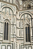 Details of the ornate marble facade at Florence Cathedral Royalty Free Stock Photography