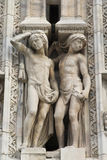 Details of the ornate marble facade at Milan Cathedral Stock Photography