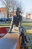 Details of Otto Timmermann Fountain in Lubeck-Travemunde, German Royalty Free Stock Images