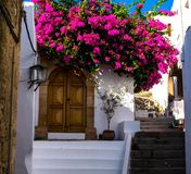 Lindos streets, details stock images