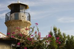 Details of outdoor architecture of a old lighthouse from Cyprus Stock Photo