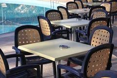Details of outdoor hotel restaurant Stock Photo