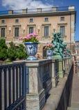 Details outside Stockholm castle Stock Photos
