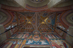 Details of painted interior walls at the Putna Monastery Royalty Free Stock Image