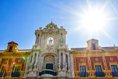 Details of Palacio de San Telmo in Seville Royalty Free Stock Images