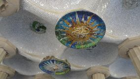 Details of Parc Guell in Barcelona. Spain royalty free stock photo