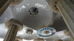 Details of Parc Guell in Barcelona stock photos