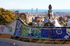 Details of Park Guell Stock Image