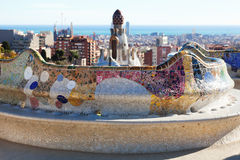 Details of Park Guell. Barcelona. Spain stock photos