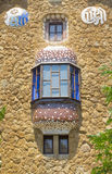 Details Park Guell in Barcelona Stock Photos