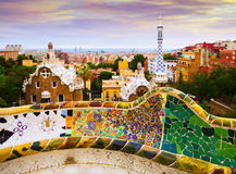 Details of Park Guell in Barcelona Stock Image