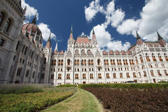 Details of the Parliament House Southeast side in Budapest Stock Photo