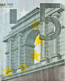 a close look of euro banknote of 50 face value  Royalty Free Stock Images