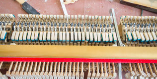 details and parts of  piano Royalty Free Stock Photos