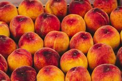 Peaches. Details of Peaches at a Market Royalty Free Stock Photos