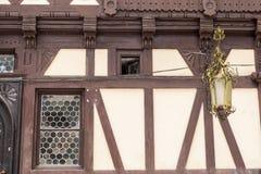 Details of Pelisor Castle from Sinaia, Romania Stock Photos