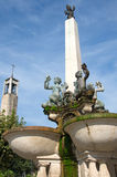 Details of pictorial Romanesque fountain in Montekatini, Italy Royalty Free Stock Photo