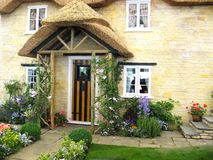 Details of picturesque cottage stock photography