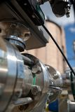 Details of pipeline. In chemical factory Royalty Free Stock Images