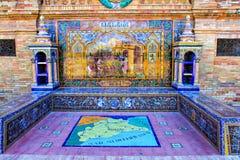 Details of Plaza de Espana (Malaga) Royalty Free Stock Photography