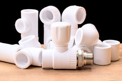 Details for plumbing polypropylene Stock Images