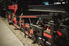 Details of Polish steam locomotive. stock photography
