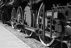 Details of Polish steam locomotive. royalty free stock photos
