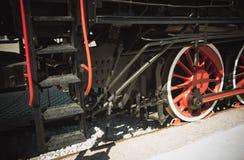Details of Polish steam locomotive. stock image
