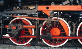 Details of Polish steam locomotive. royalty free stock images