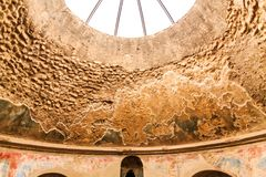 Details in Public Baths in Pompeii Royalty Free Stock Photo