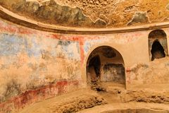 Details in Public Baths in Pompeii royalty free stock photos