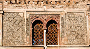 Details of the Puerta del Vino, Alhambra Stock Images