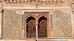 Details of the Puerta del Vino, Alhambra. Detail window Puerta del Vino, Alhambra Stock Images