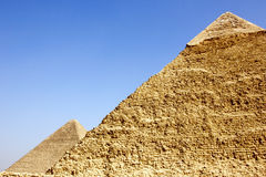 Details of pyramids of Giza Royalty Free Stock Image