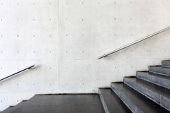 Details of railing and stairs. Close up and details of railing and stairs of a modern building Stock Photos