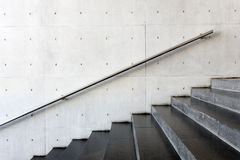 Details of railing and stairs. Close up and details of railing and stairs of a modern building Royalty Free Stock Photo