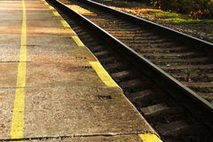 Details of railroad tracks Stock Photo