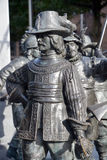 Details of Rembrandt monument Stock Images