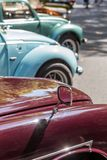 Details reto car show on street of the city Stock Image