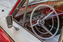 Details reto car show on street of the city Stock Photo