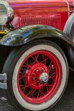 Details reto car show on street of the city Royalty Free Stock Photography