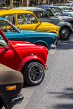 Details reto car show on street of the city Stock Photography