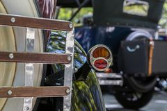 Details reto car show on street of the city Stock Images